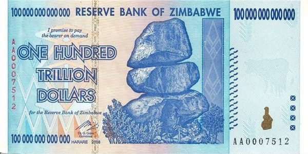 Триллион зимбавийских доларов