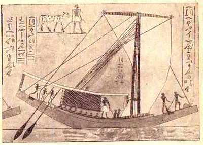 древнеегипетский корабль