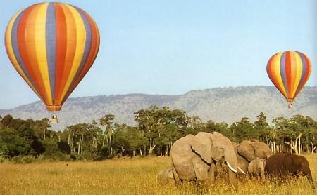 полет над Африкой на воздушном шаре