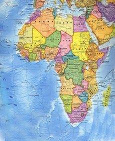Політична карта Африки